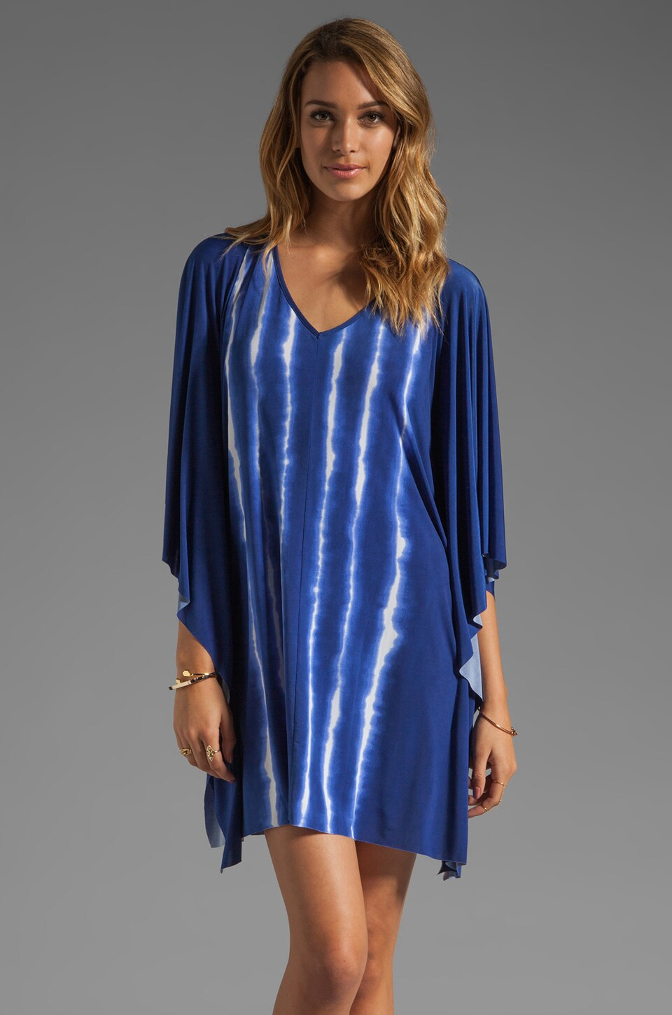Vix Swimwear Cayman V Caftan in Blue