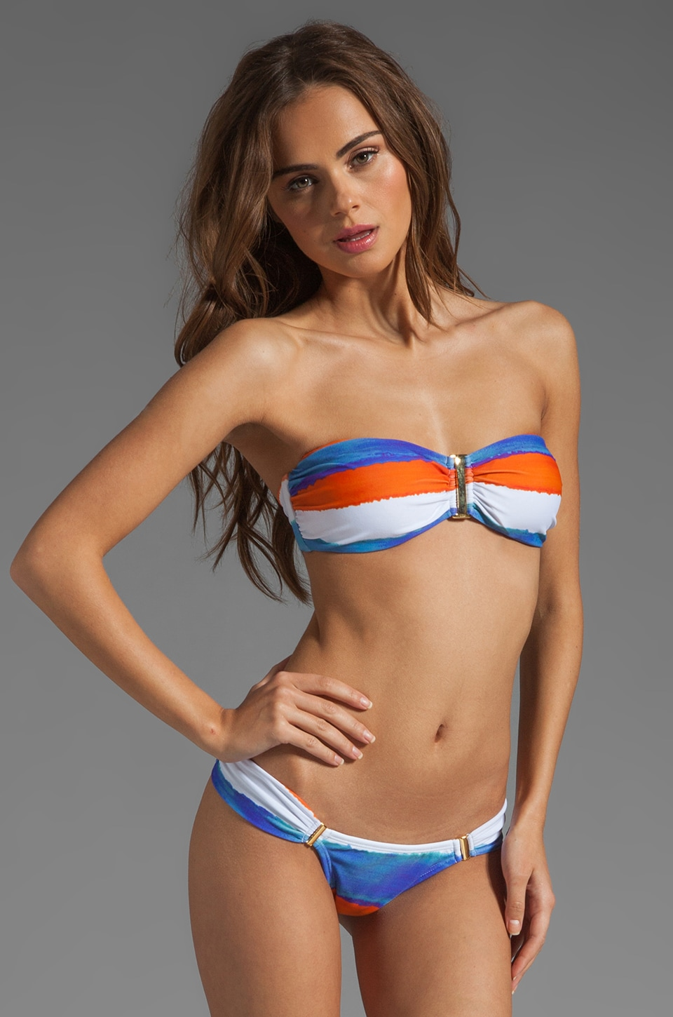 Vix Swimwear Caribe Square Bandeau in Blue