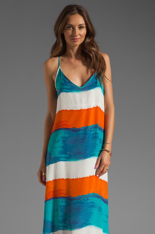 Vix Swimwear Caribe Vicky Long Dress in Blue