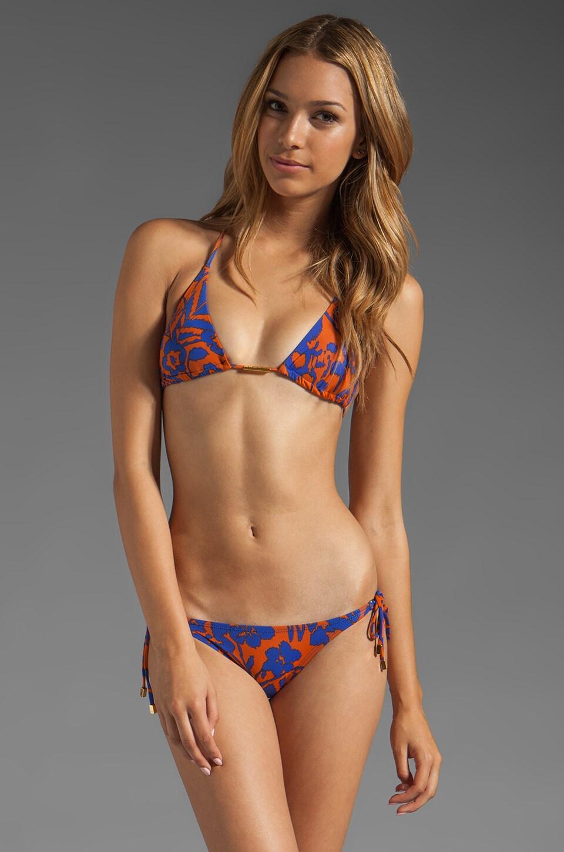 Vix Swimwear Antigua Tri Detail Top in Blue
