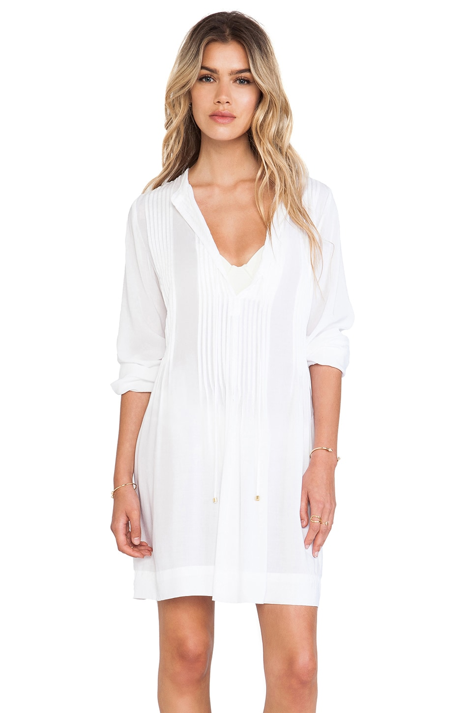 Vix Swimwear Catarina Tunic in Solid White