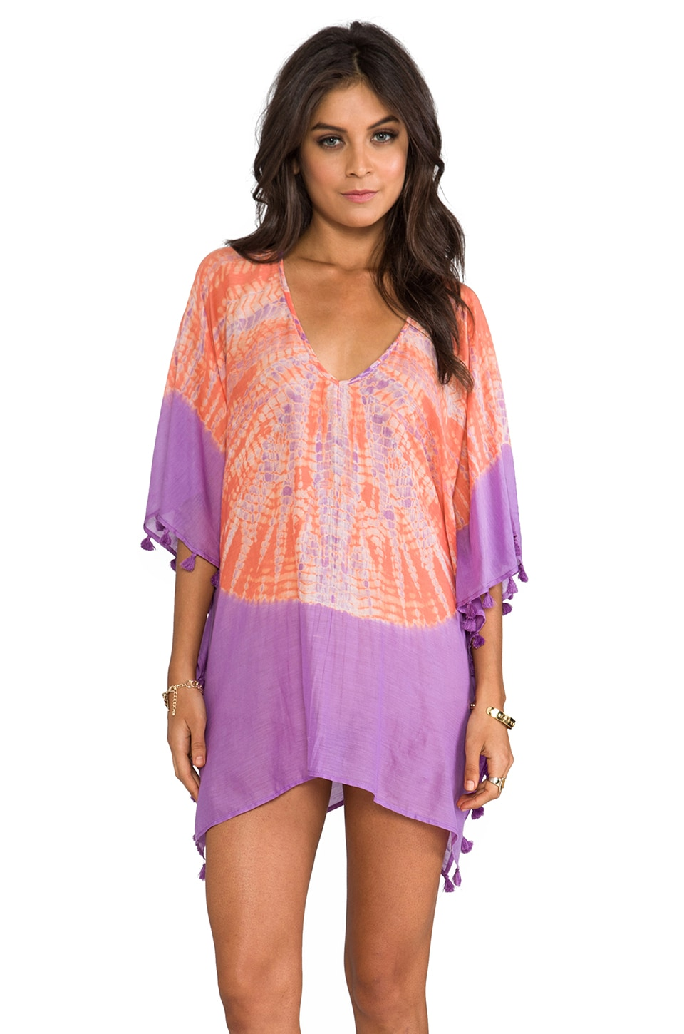 Vix Swimwear Saicu Caftan in Solid Grape