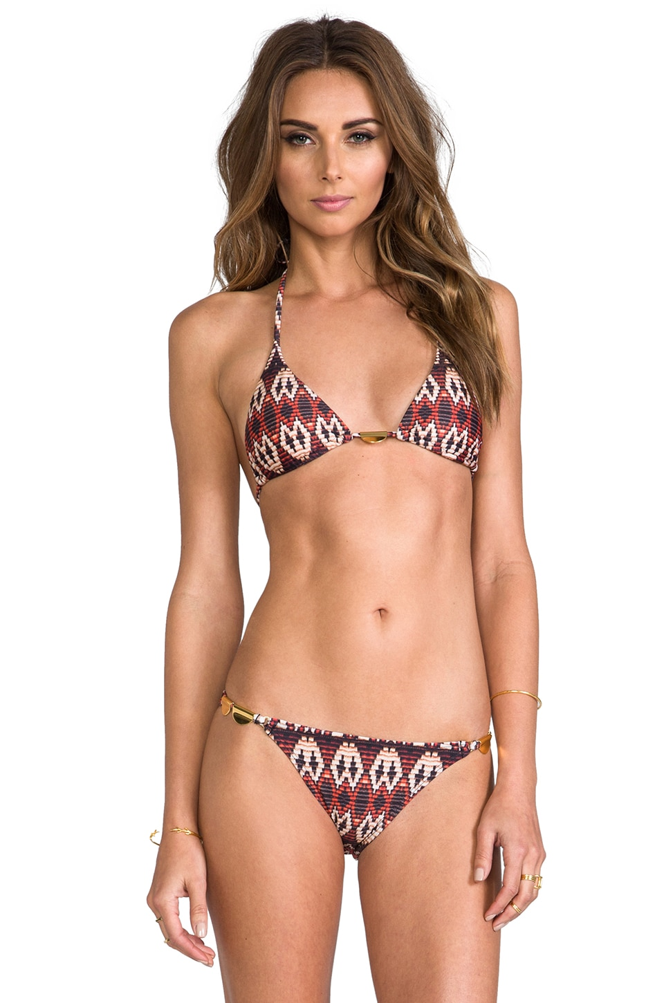 Vix Swimwear Triangle Top in Paje