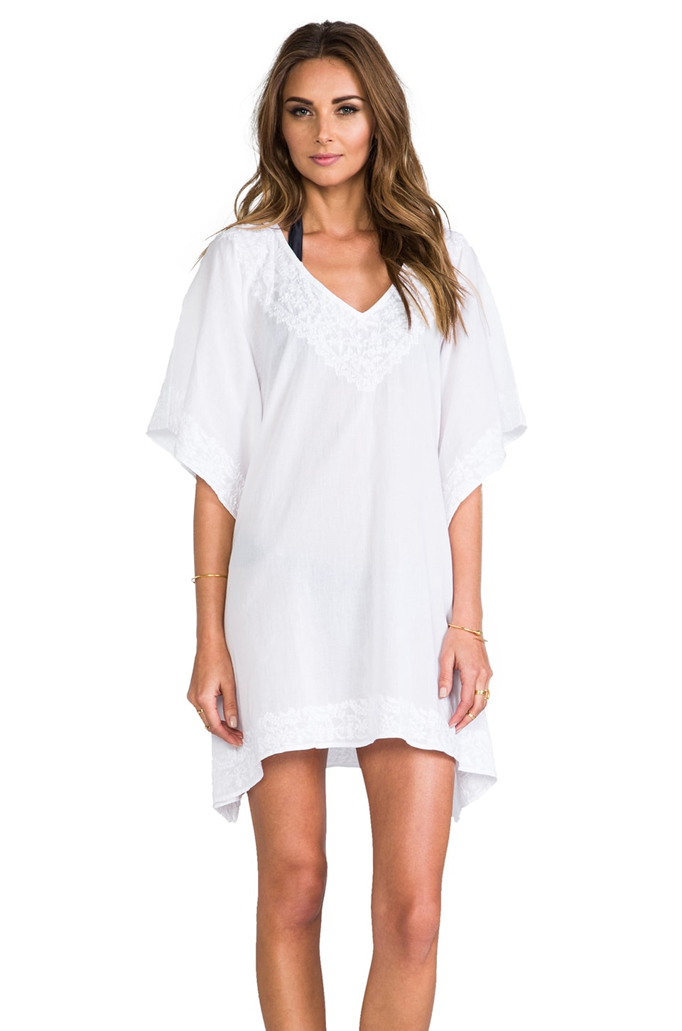 Vix Swimwear Iamandu Caftan in Solid White