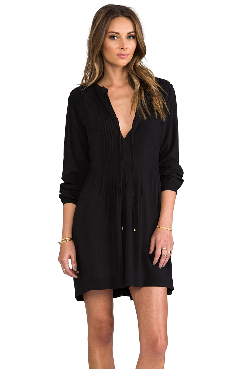 Vix Swimwear Catarina Tunic in Solid Black