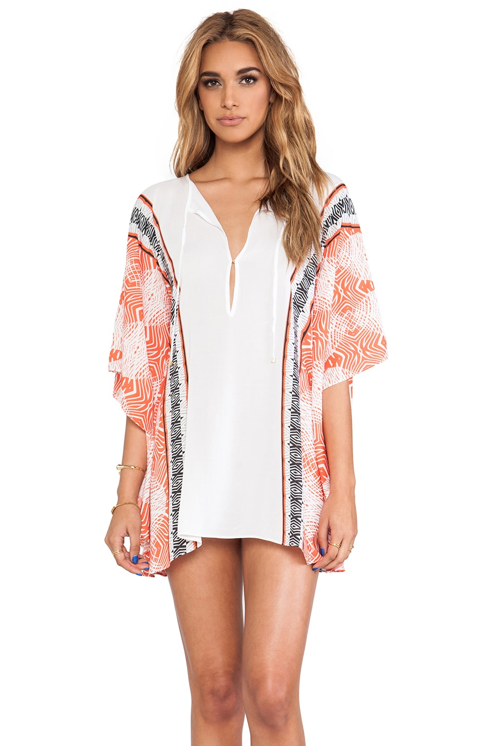 Vix Swimwear Tupi Caftan in Orange