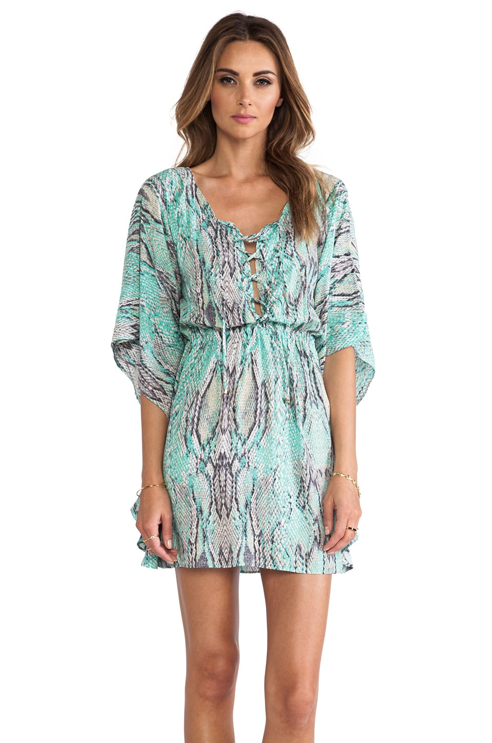 Vix Swimwear Ruda Tracy Caftan in Aqua