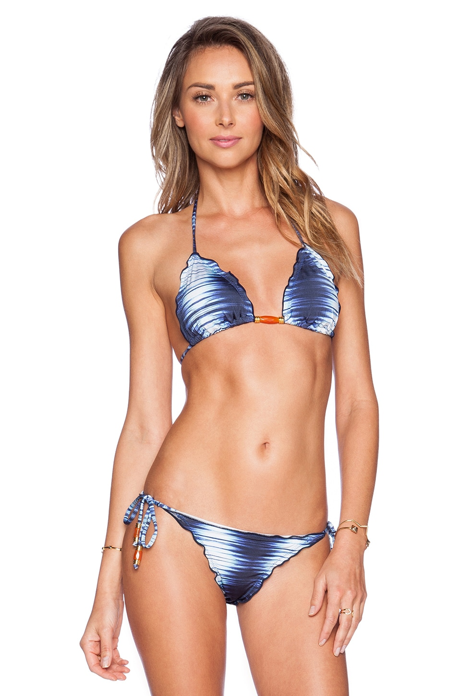 Vix Swimwear Triangle Bikini Top in Nile Ripple
