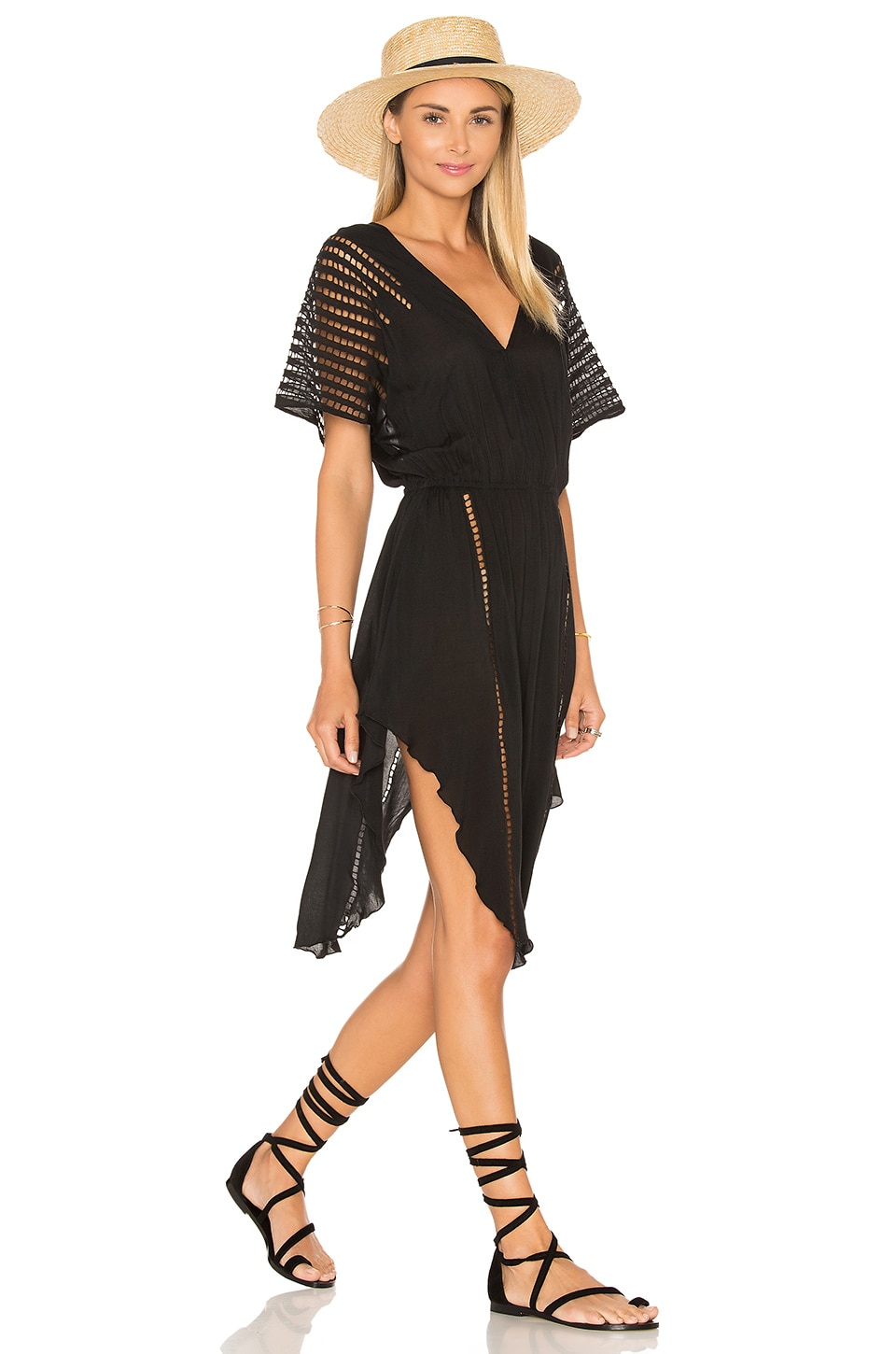 Vix Swimwear Nadja Caftan in Solid Black