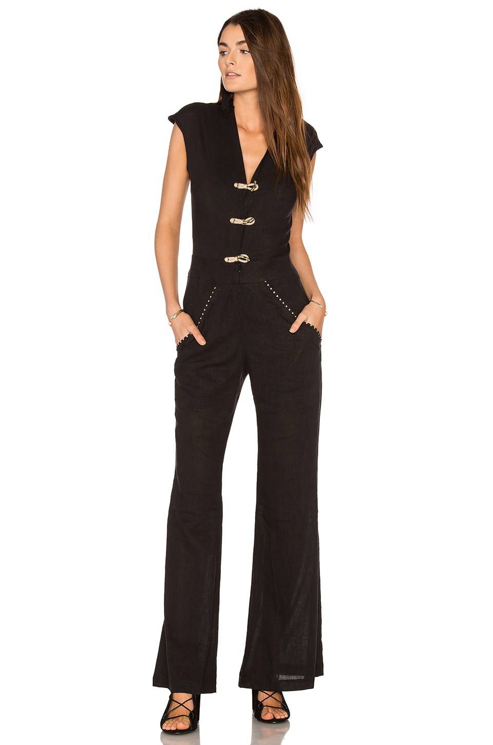 Solid Flaire Jumpsuit by Vix Swimwear