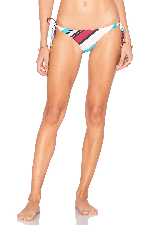 Vintage Stripe Long Tie Bikini Bottom by Vix Swimwear