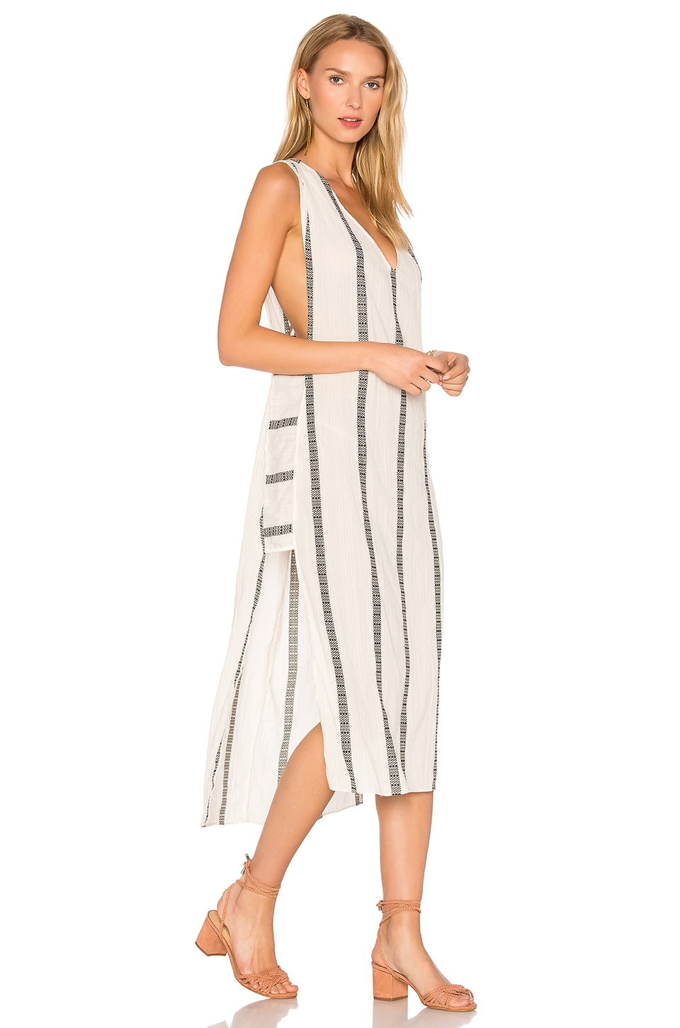 Vix Swimwear Stripe Luanna Caftan in White
