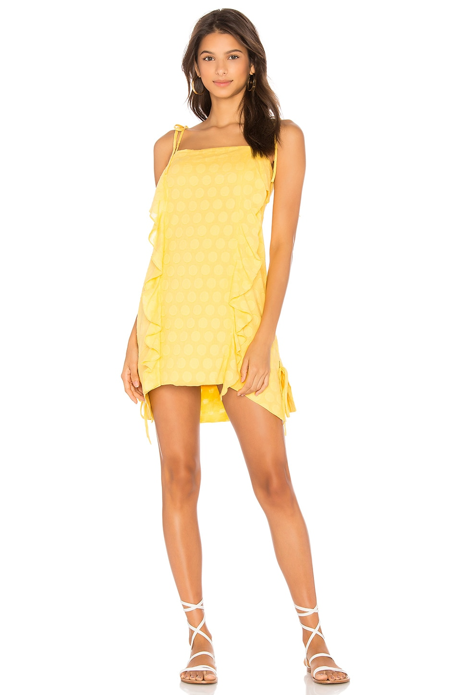 Vix Swimwear Yellow Ruffle Mini Dress
