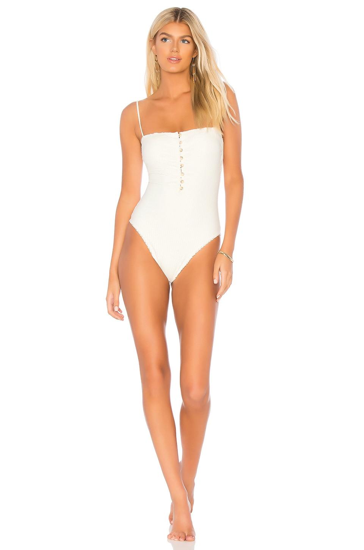 e91a453c9b514 Vix Swimwear Scales Button One Piece in Off White | REVOLVE