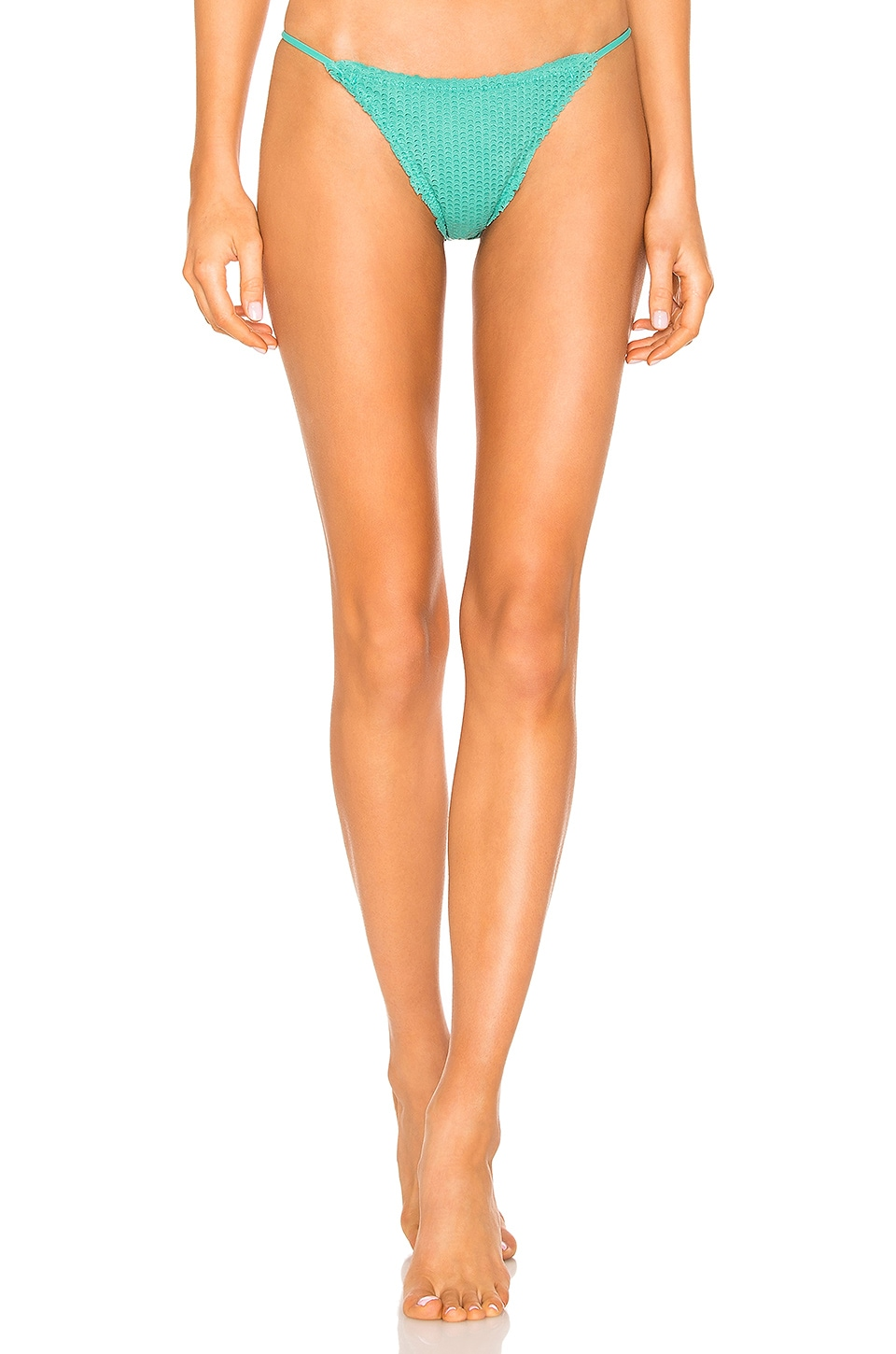 eaefb204fb Vix Swimwear String Cheeky Bottom in Emerald Scales | REVOLVE