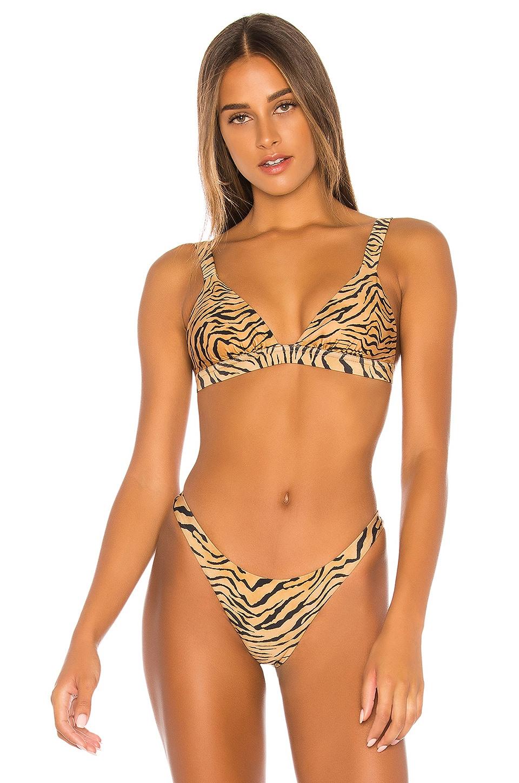 Vix Swimwear Tiger Claire Bikini Top in Black
