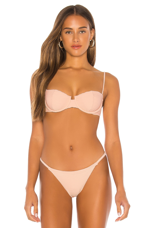 Vix Swimwear Nissi Bikini Top in Vanilla Dune