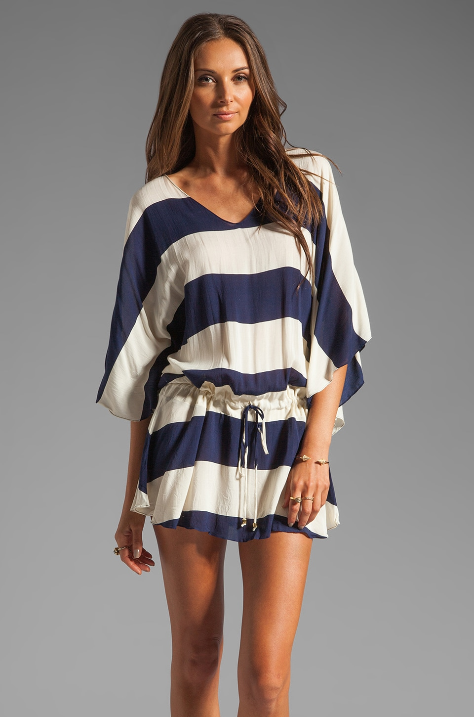 Vix Swimwear Malawi Vintage Tunic in Navy/White