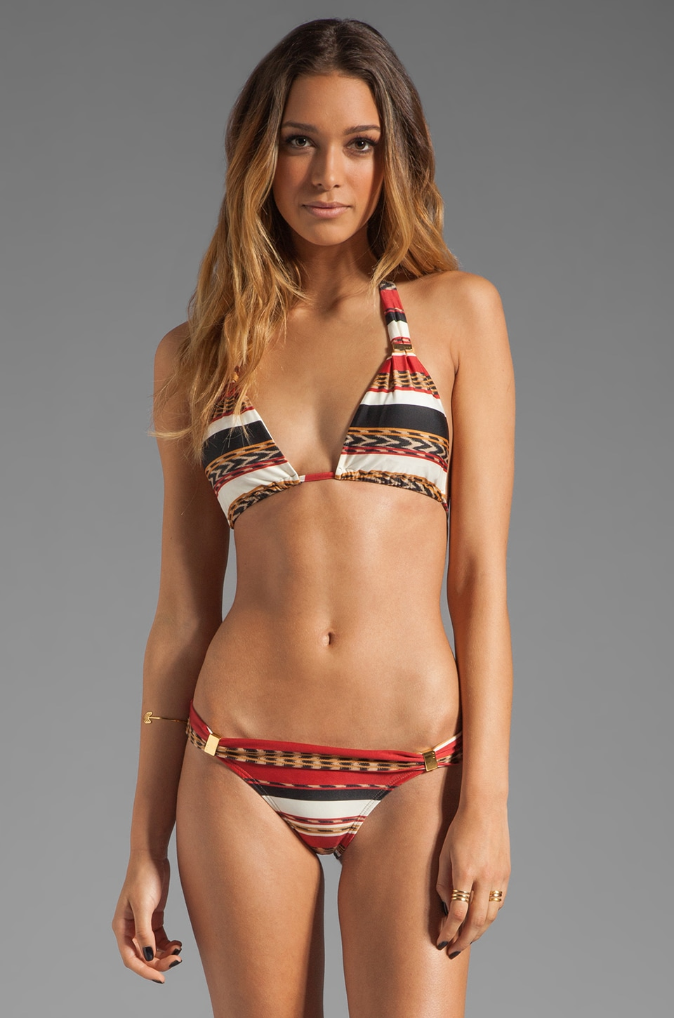 Vix Swimwear Angola Tube Bikini Top in Multi