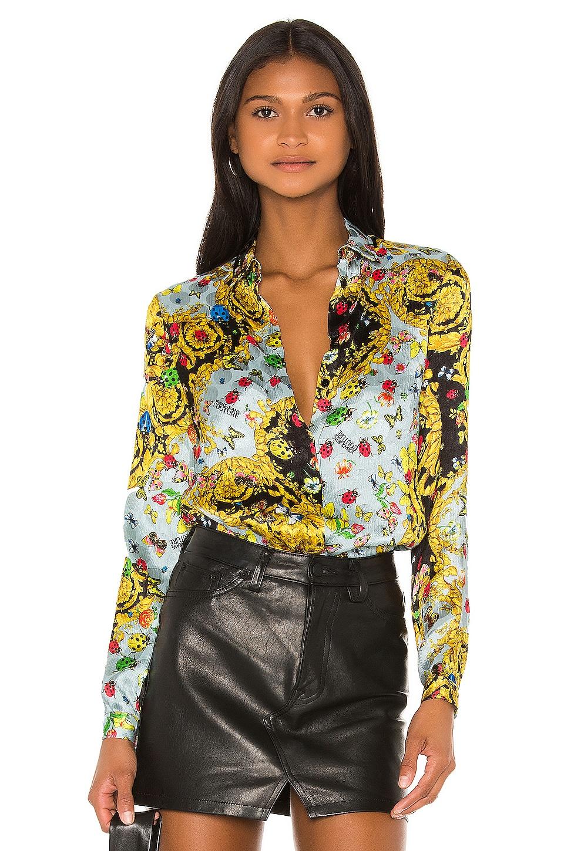 Versace Jeans Couture Button Up Lady Shirt en Menta
