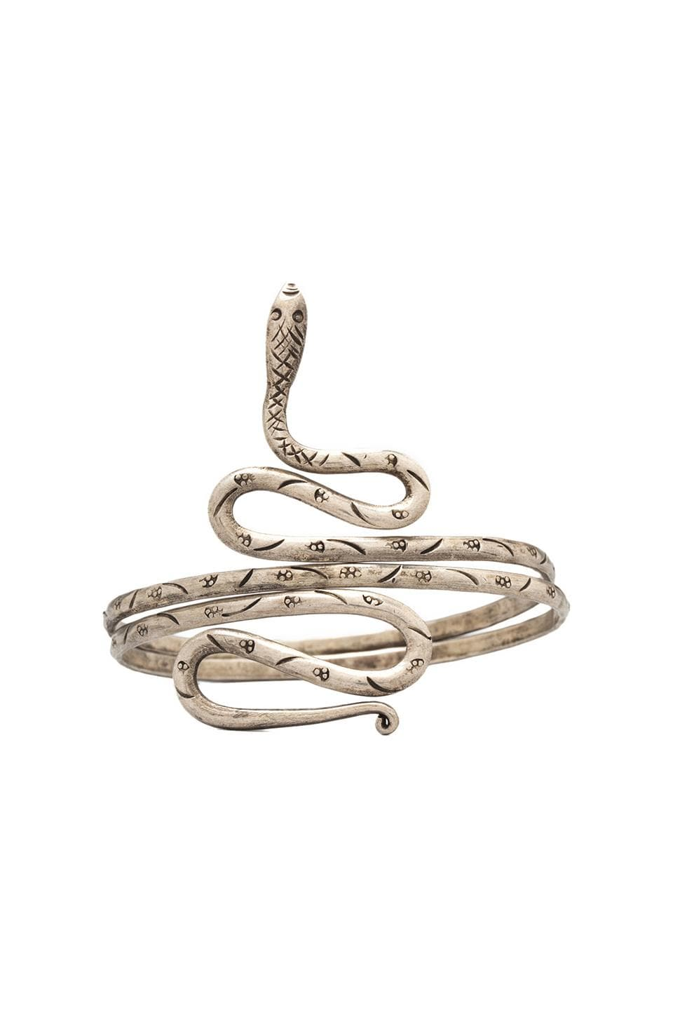 Vanessa Mooney Mystical Rapture Snake Cuff in Silver
