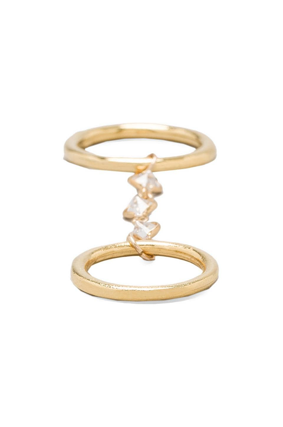 Vanessa Mooney Bright Lights Long Chain Rings in Gold