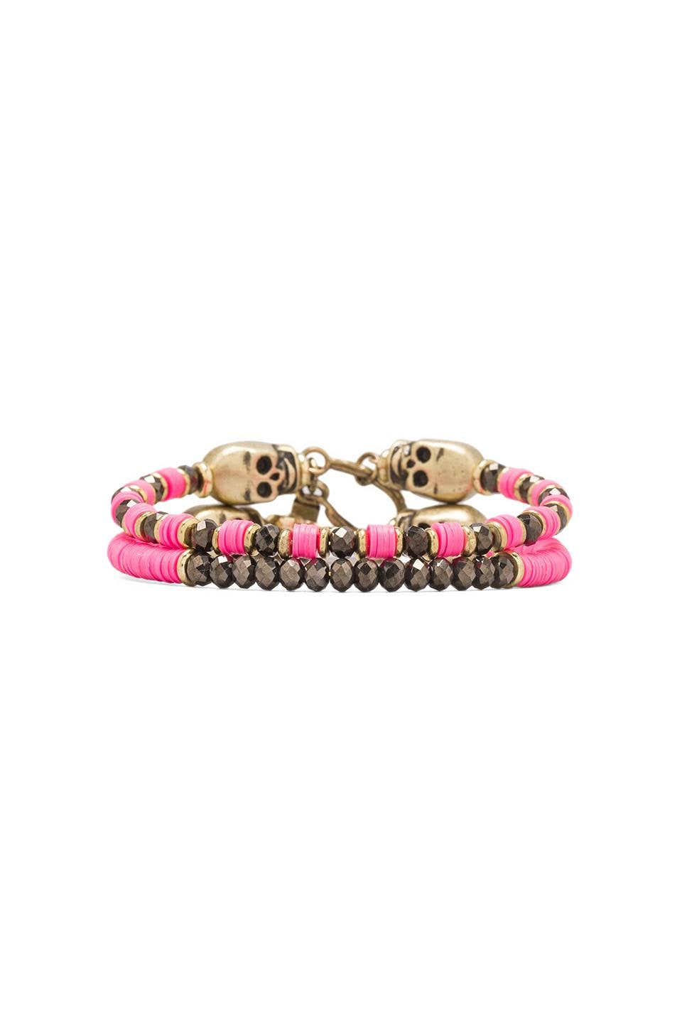 Vanessa Mooney Cult Classic Bracelets in Hot Pink