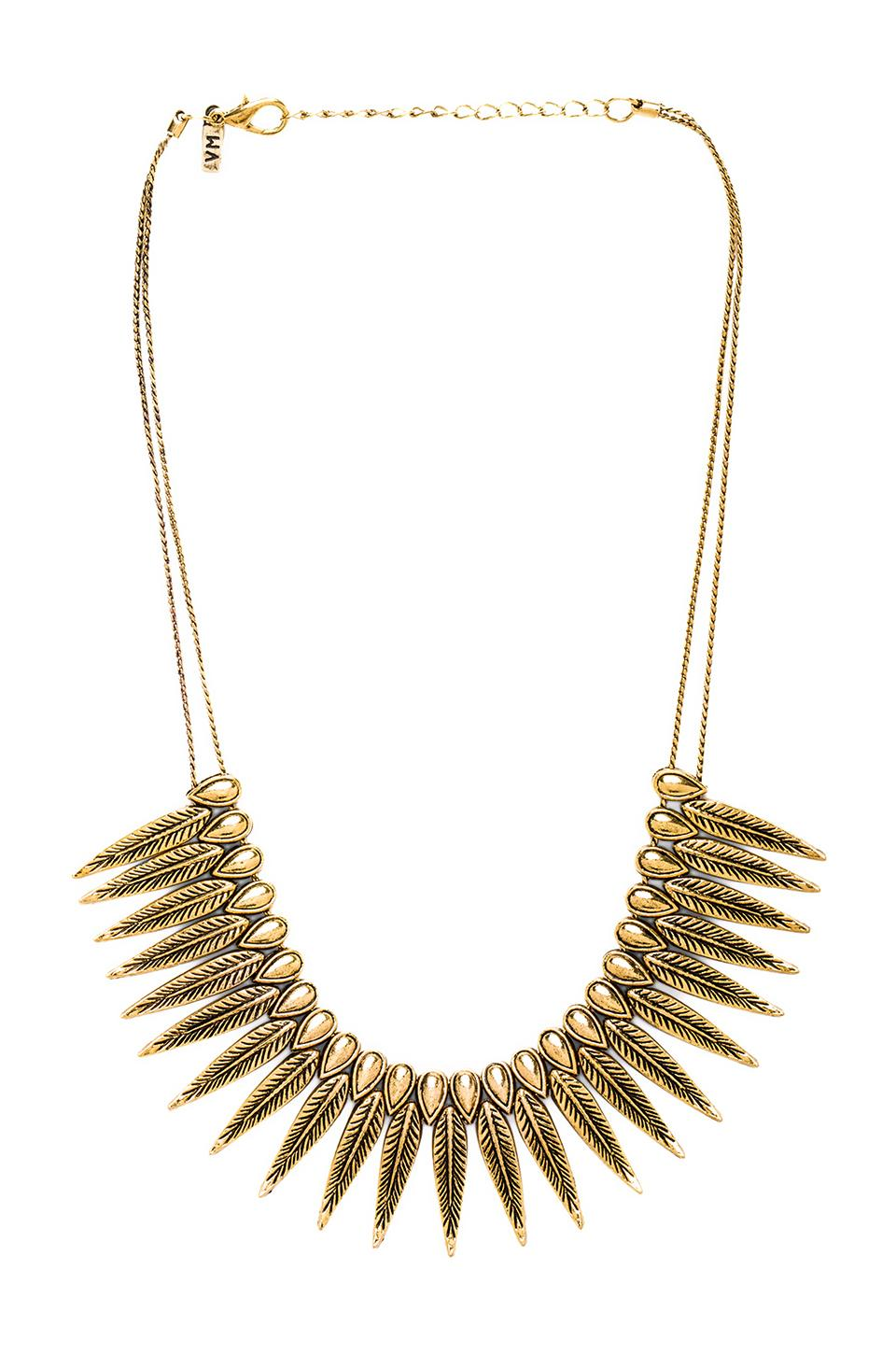 Vanessa Mooney The Phoenix Necklace in Gold
