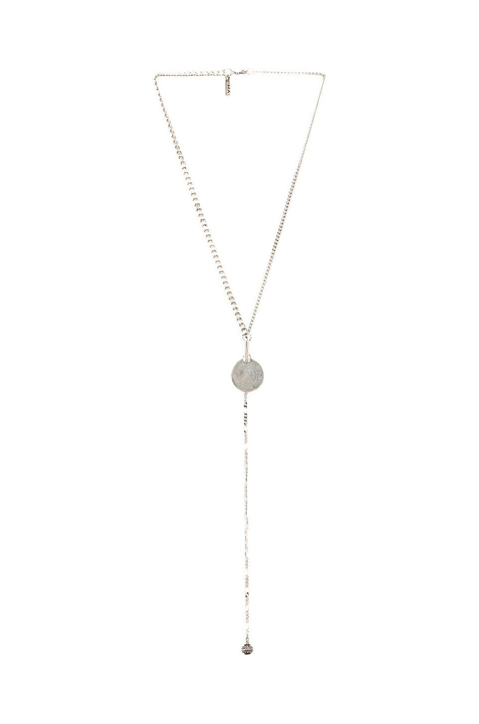 Vanessa Mooney Le Vida Boheme Rosary Necklace in Silver