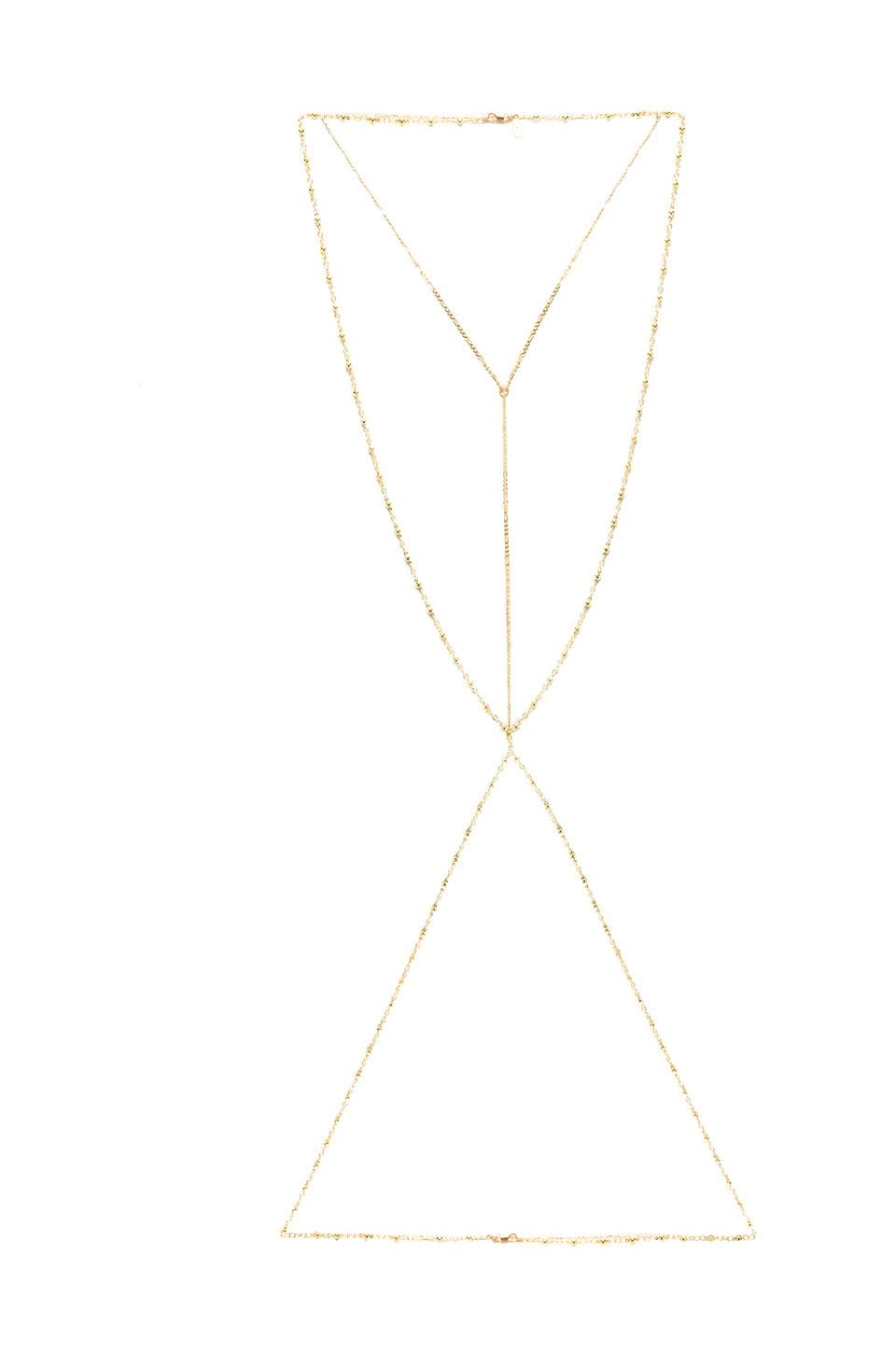 Vanessa Mooney Velorum Body Chain in Gold