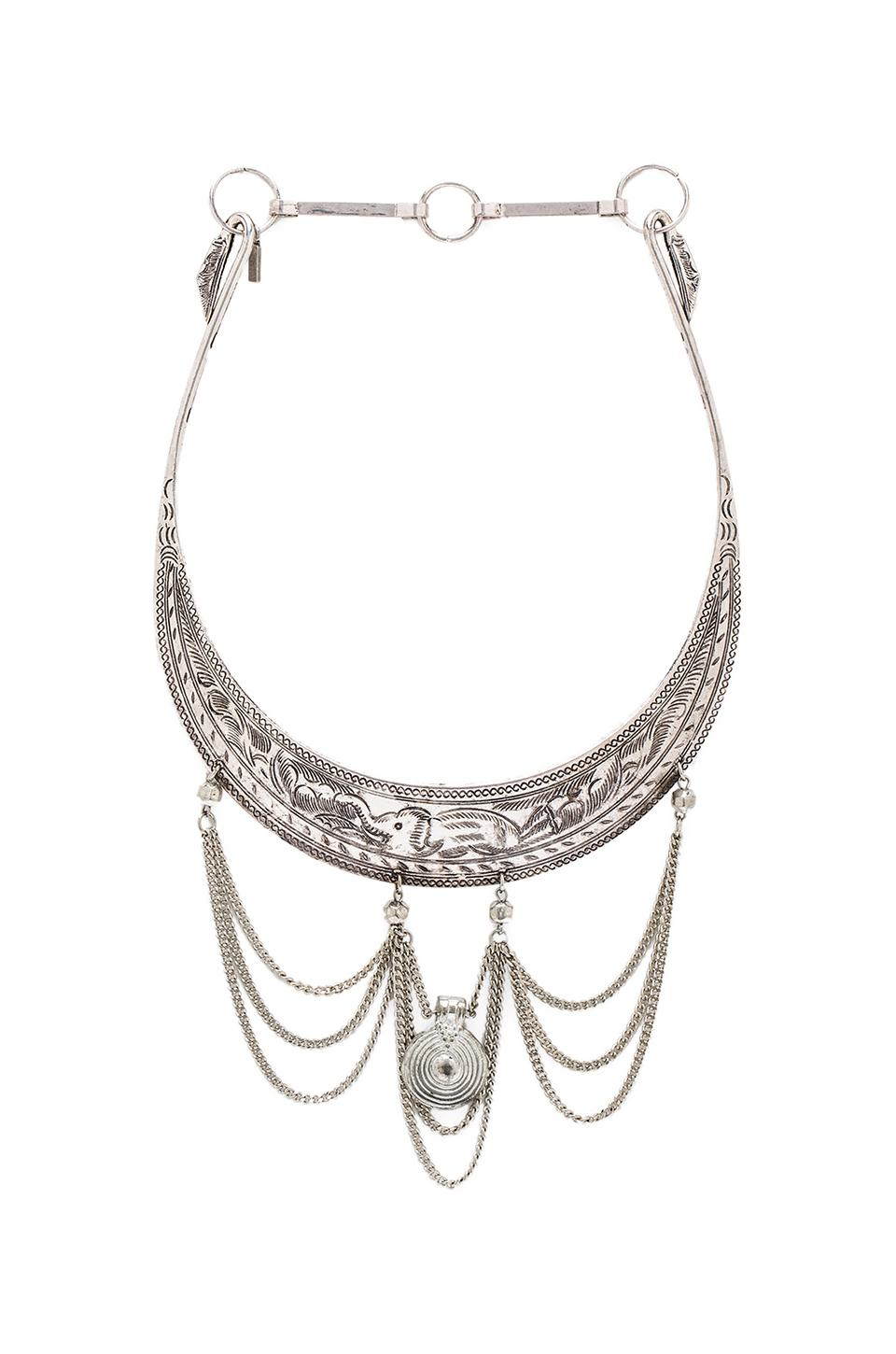 Vanessa Mooney Nebulous Statement Necklace in Silver