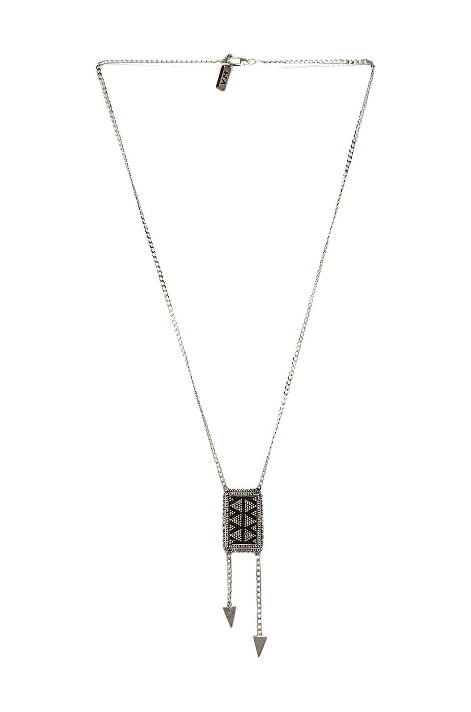 Vanessa Mooney Ziggy Necklace in Silver