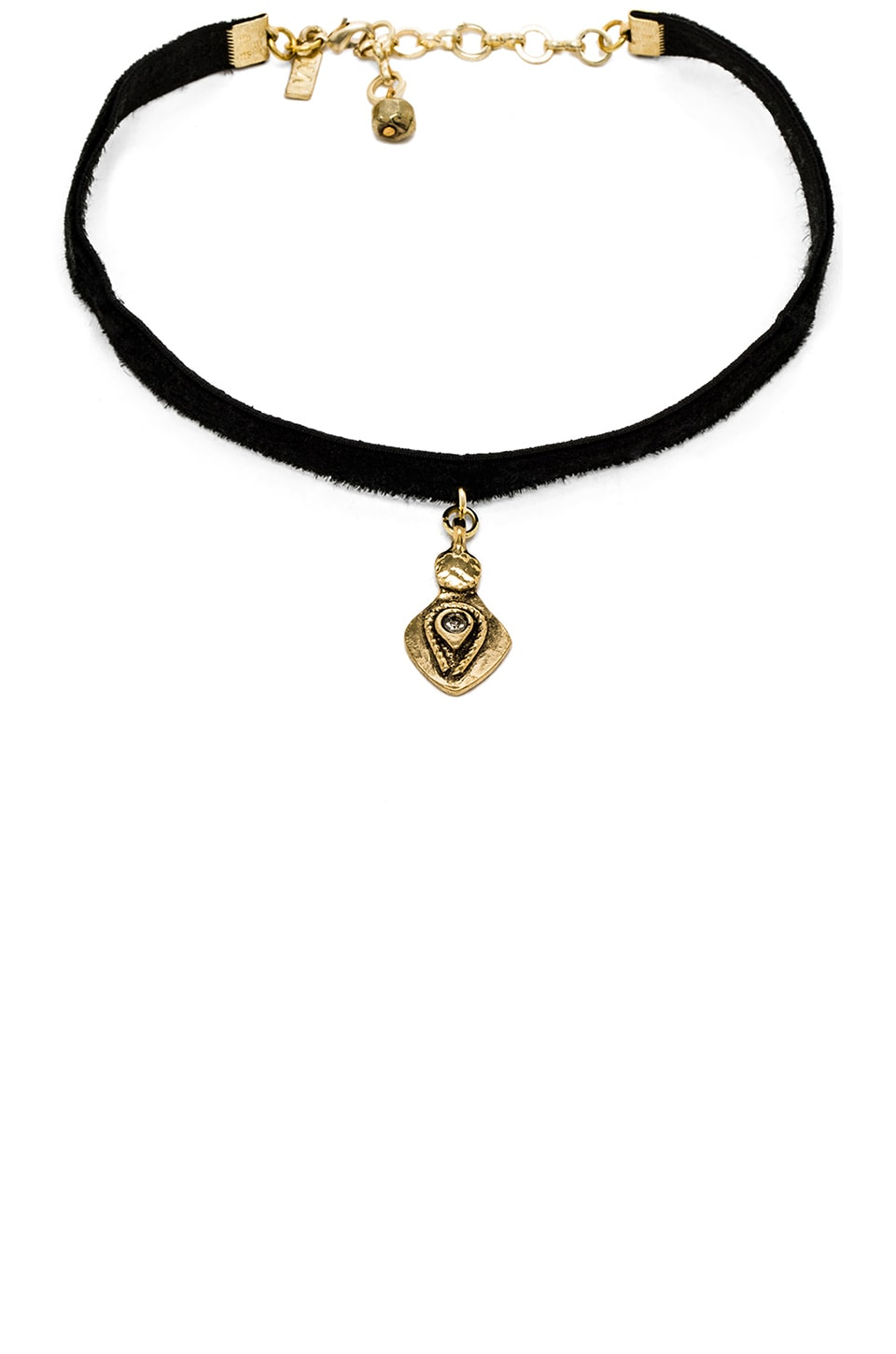 Vanessa Mooney Teardrop Choker in Black Velvet