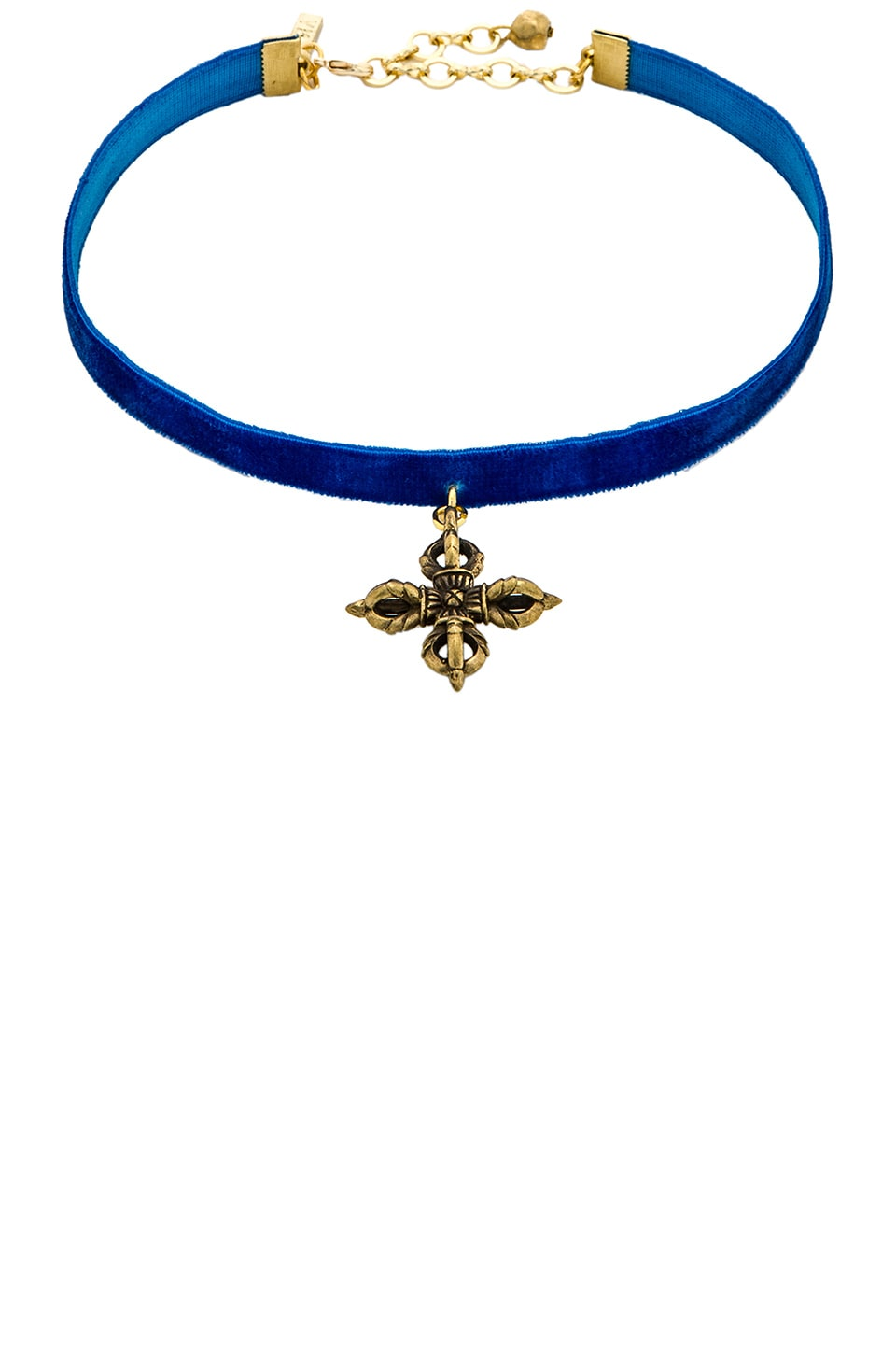 Vanessa Mooney Velvet Choker in Royal Blue