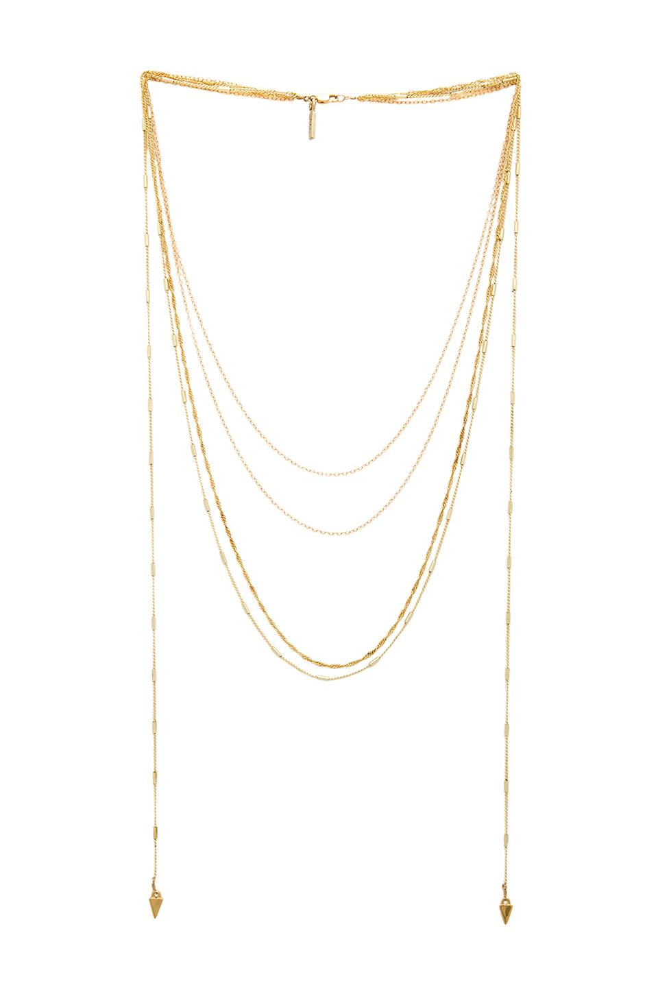 Vanessa Mooney The Love Letter Necklace in Gold