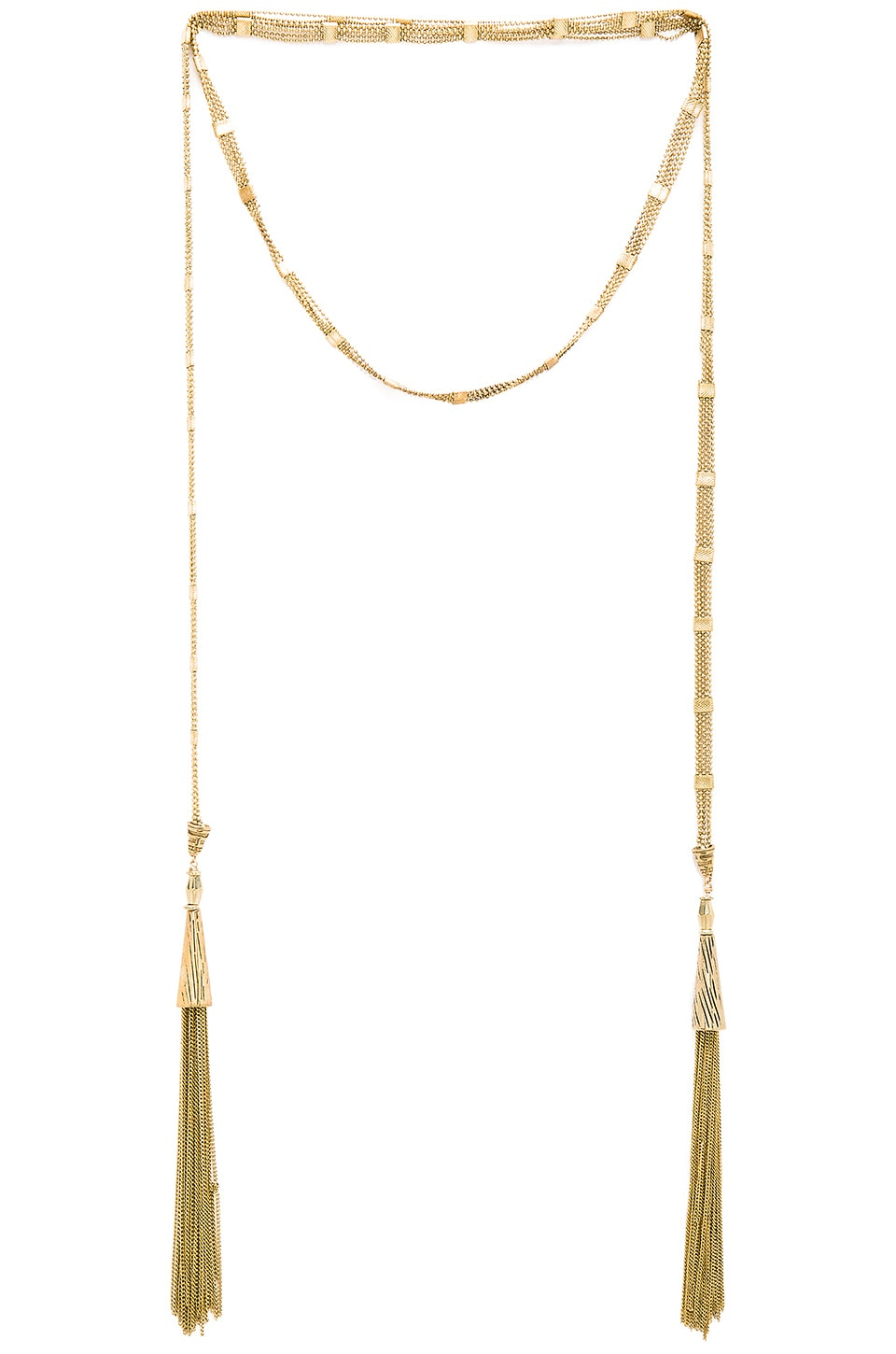 Vanessa Mooney Shoot to Thrill Wrap Necklace in Brass