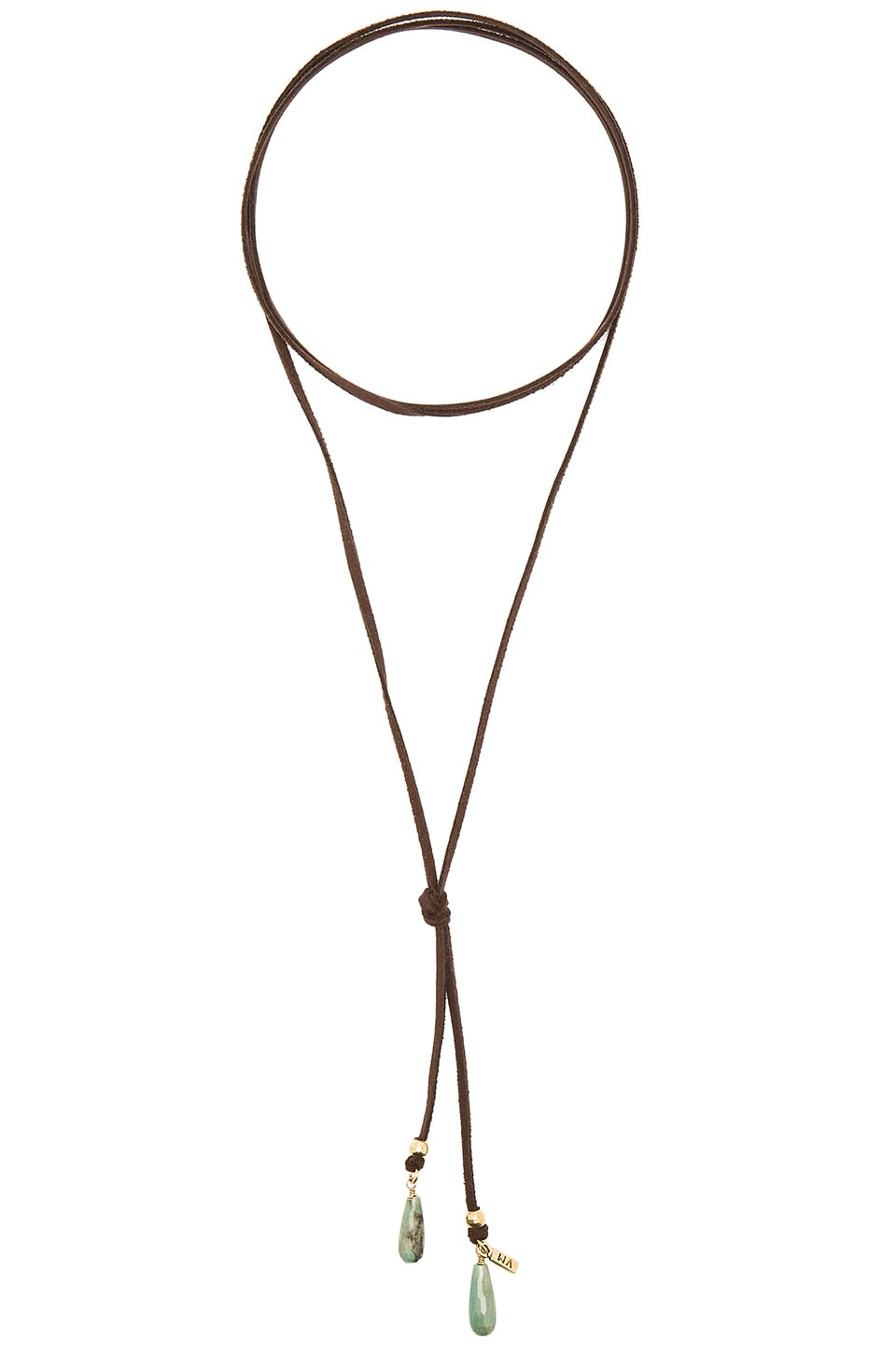 Bolo Green Stone Necklace by Vanessa Mooney