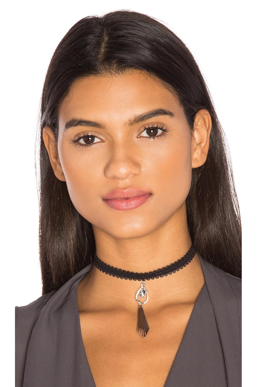 Vanessa Mooney Morrison Lace Choker in Silver