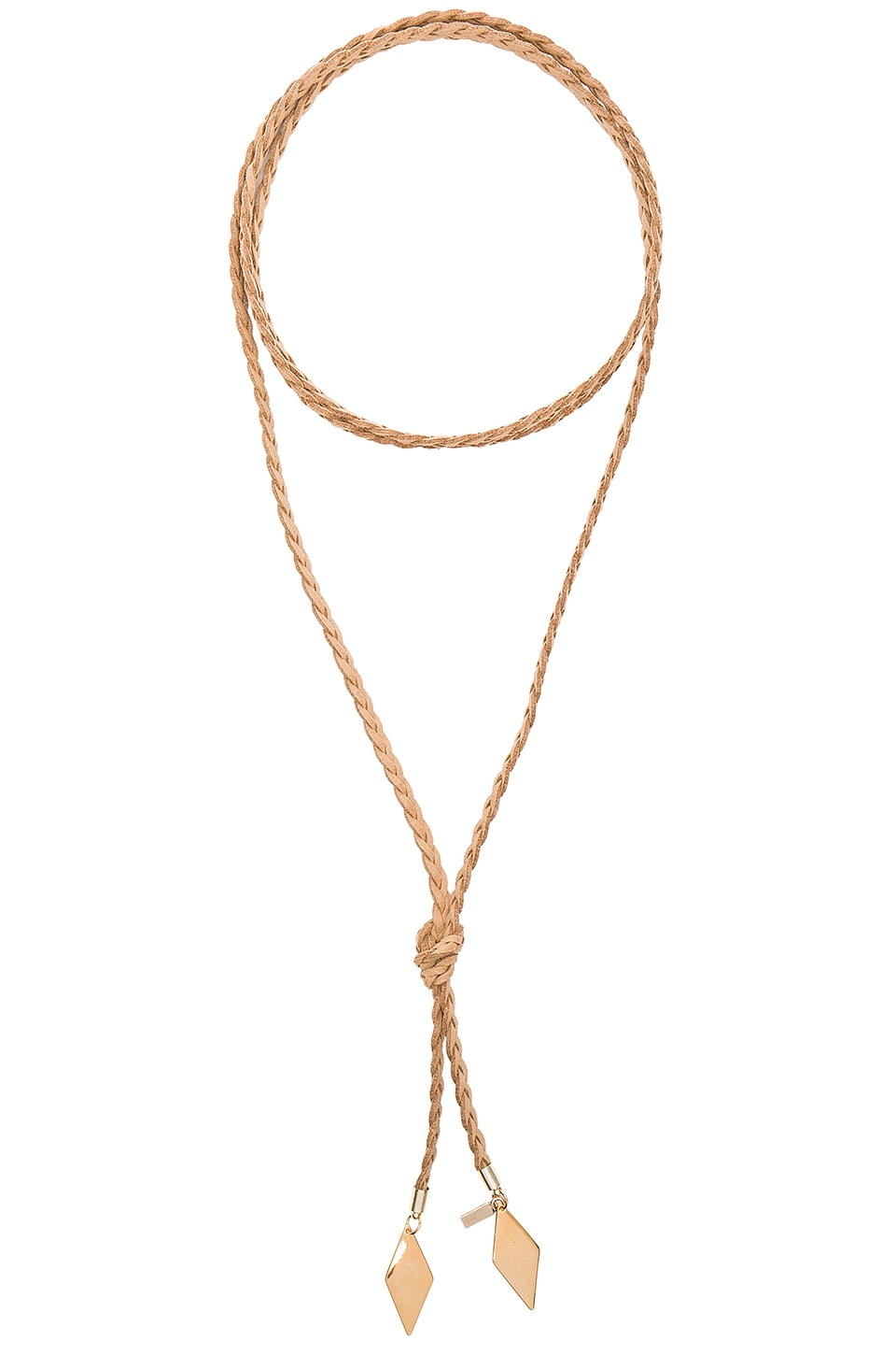 Vanessa Mooney Braided Diamond Bolo in Gold
