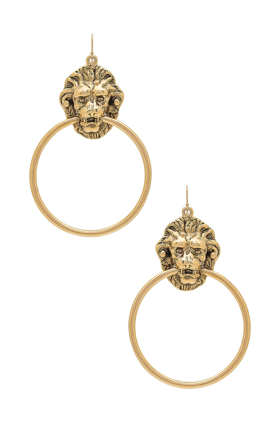 Vanessa Mooney Vandal Earrings in Gold