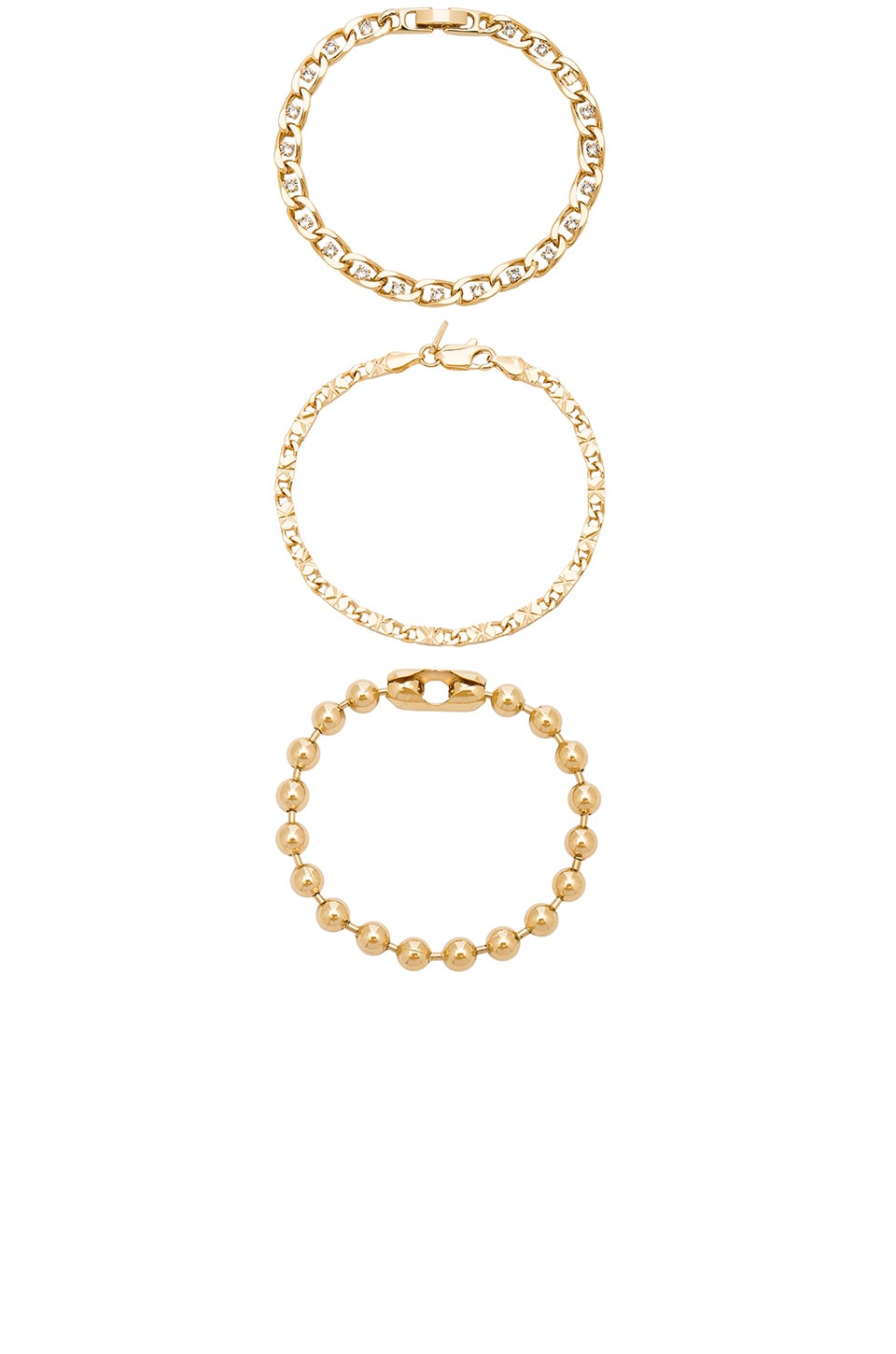 Vanessa Mooney High Roller Bracelets in Gold