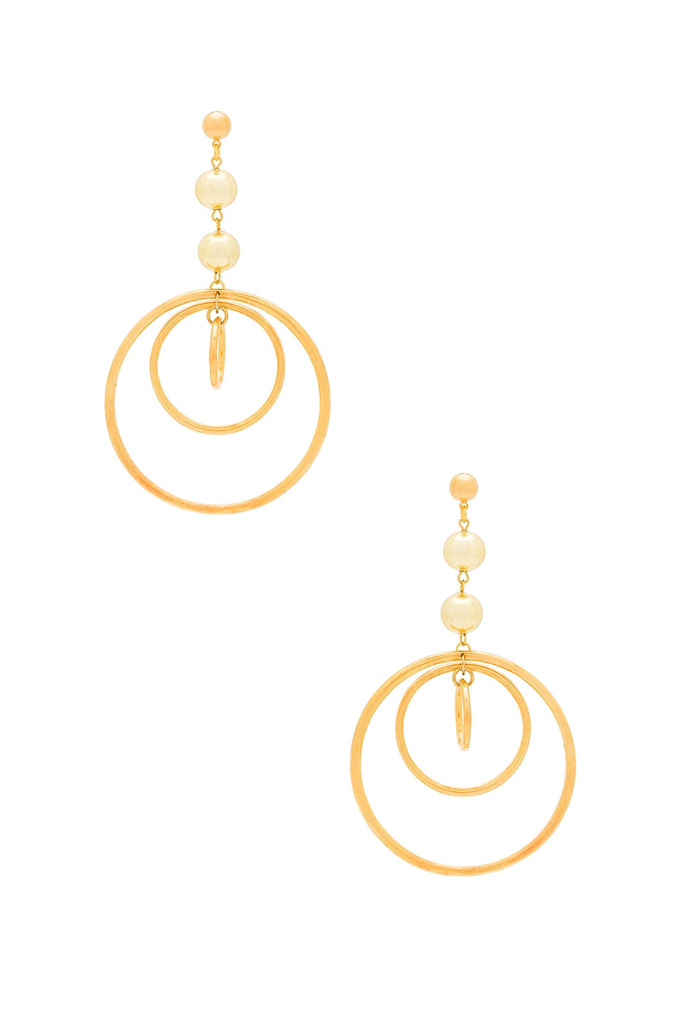 Vanessa Mooney Zelda Hoop Earrings in Gold