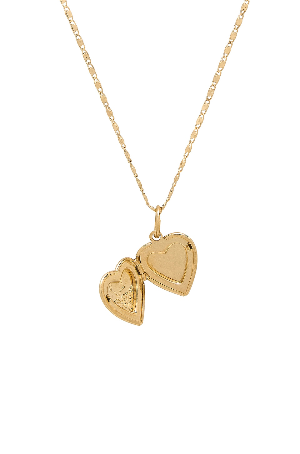 Vanessa Mooney The Heart Locket Necklace in Gold
