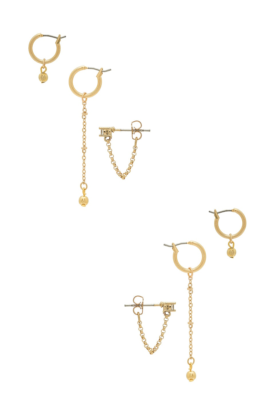 Vanessa Mooney Kody Earring Set in Gold
