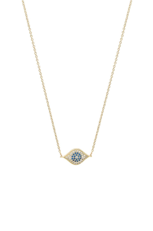 Vanessa Mooney Little Evil Eye Necklace in Gold