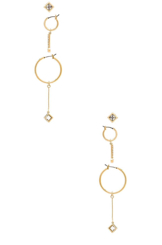 VANESSA MOONEY The Maisie Hoops Set in Metallic Gold