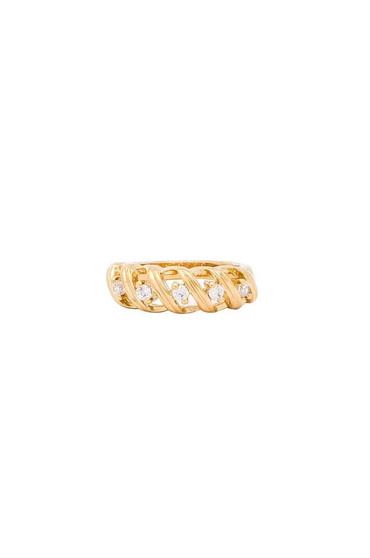 VANESSA MOONEY The Slay Ring in Metallic Gold