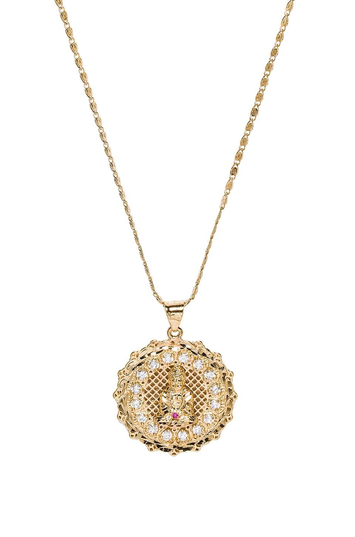 VANESSA MOONEY The Buddha Necklace in Metallic Gold