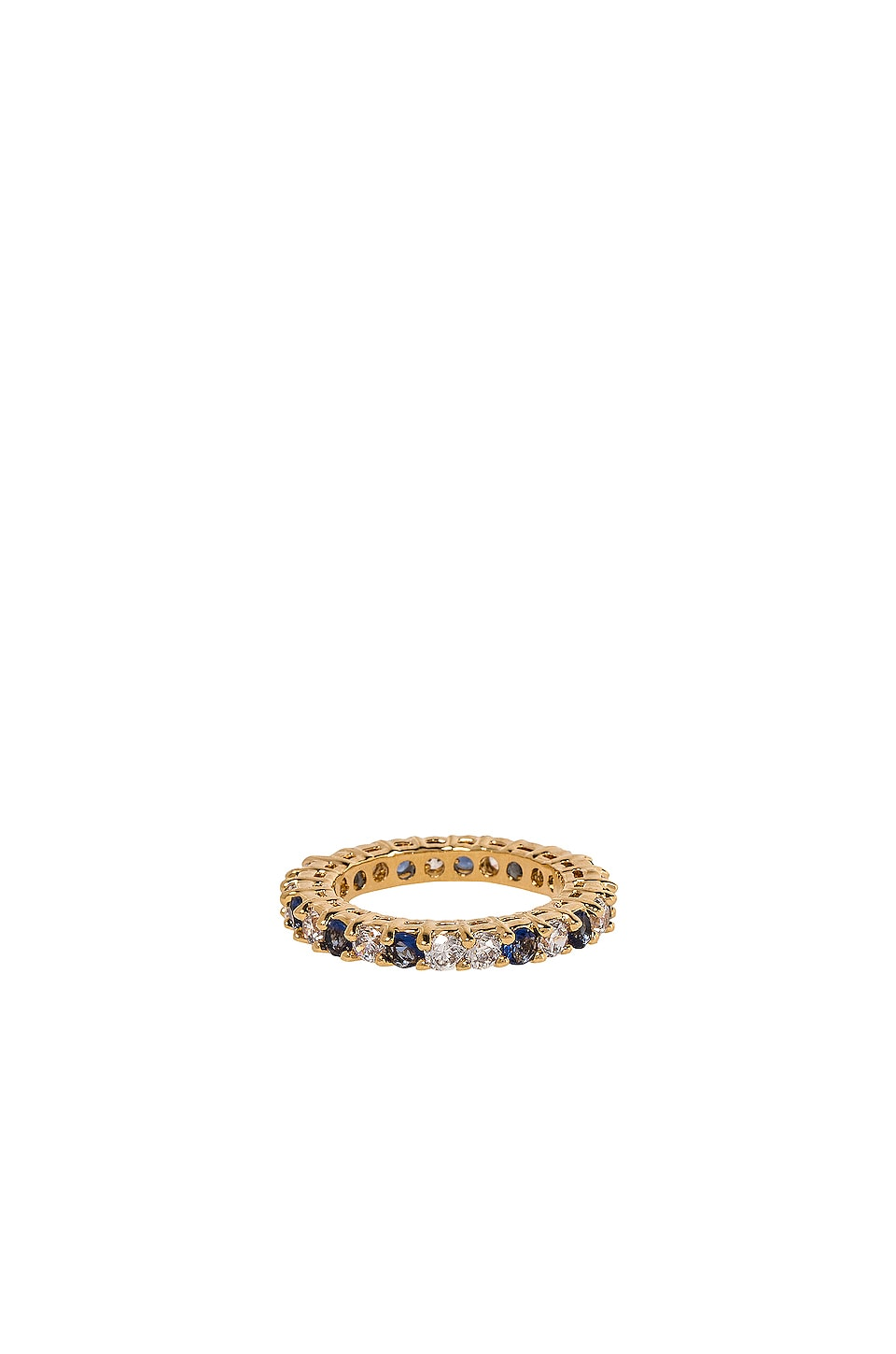 Vanessa Mooney The Centerfold Ring in Gold & Blue