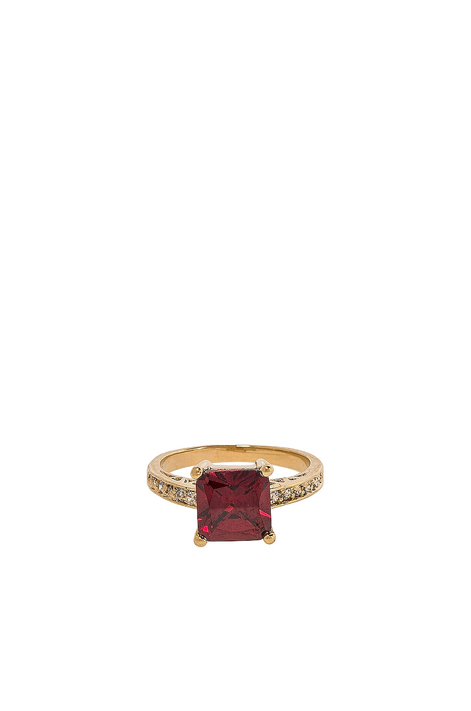 Vanessa Mooney The Future Ring in Gold & Ruby
